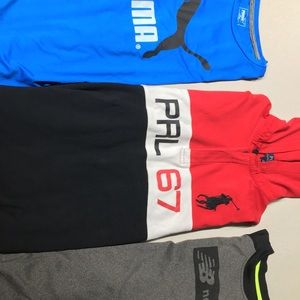 POLO RL / PUMA / NEW BALANCE Boy Long Sleeves sz L
